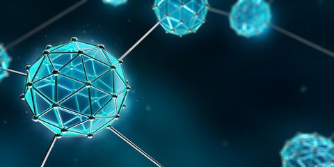 fototapeta 3D atom i cząsteczka