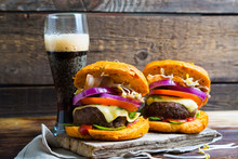 Big Homemade Burger And Dark B...