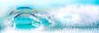 canvas print picture - Clean blue soap bubbles