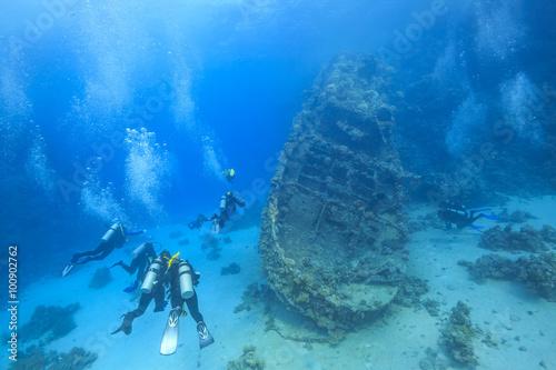 wreck in the Red Sea Fototapeta