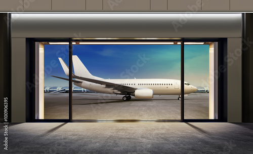 Poster Aeroport gate in airport