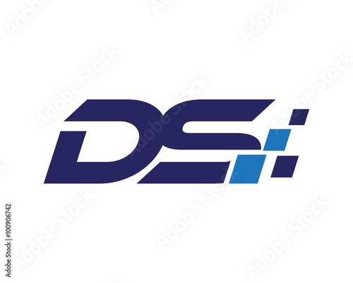 DS digital letter logo - Buy this stock vector and explore