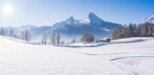 Berchtesgaden Im Winter, Watzmann, Bayern, Deutschland