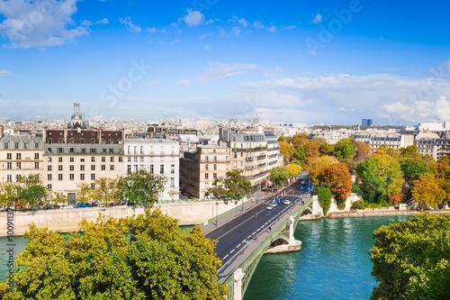 Papiers peints Paris Seine river and Pont de Sully, Paris, France