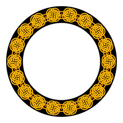 Obraz na Szkle Folklor Round frame with celtic ornament