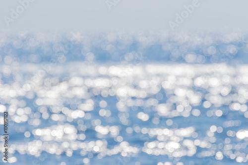 Fotobehang Zee / Oceaan 海面のボケ反射 背景素材