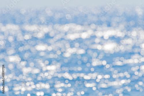 Staande foto Zee / Oceaan 海面のボケ反射 背景素材