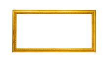 Gold Vintage Frame On White Is...