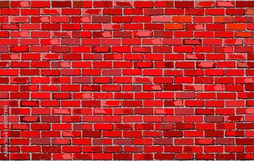 Red Brick Wall - Illustration, Retro red brick wall Vector