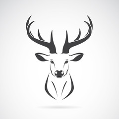 Fototapeta Vector image of an deer head design on white background