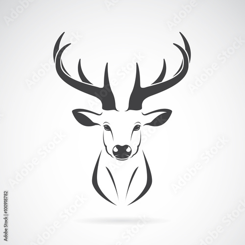 Fotografie, Obraz  Vector image of an deer head design on white background