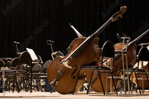 Foto Instrumente Sinfonieorchester auf der Bühne