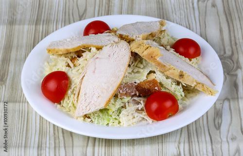Foto op Aluminium Assortiment Caesar salad