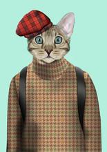 Cat Boy Dressed Up In Urban St...