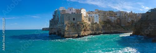 Fotografie, Obraz  Polignano a Mare panorama (BA, Italy): heaven on earth