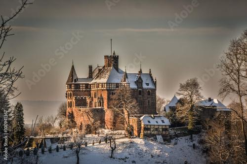 Montage in der Fensternische Schloss Das Schloss Berlepsch bei Witzenhausen in Nordhessen