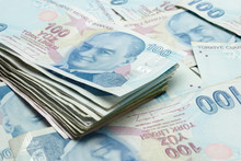 Background Of Turkish Lira Banknotes