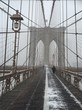 Brooklyn Bridge during a snowstorm, NYC