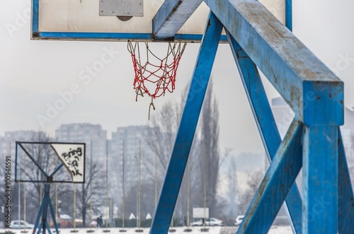 Photo  basketball court