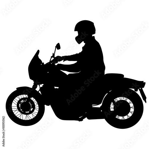 Foto op Canvas Motorfiets Rider participates motocross championship. Vector illustration