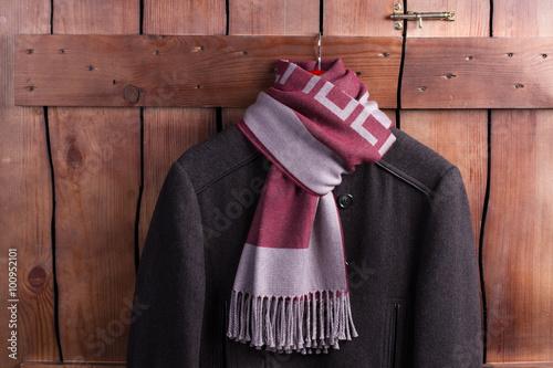 Fotografie, Tablou  Men's clothes hanging on a wooden fence.