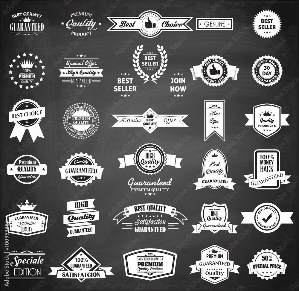 Fototapeta Chalkboard Badge Collection