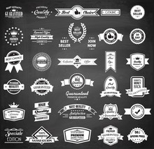 Chalkboard Badge Collection