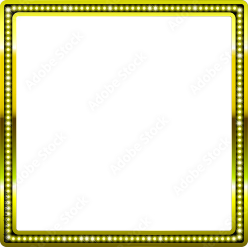 Picture Frames Square Gold Glitter Buy This Stock Illustration