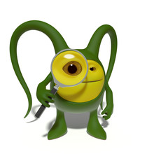 Monster With Magnifying Glass