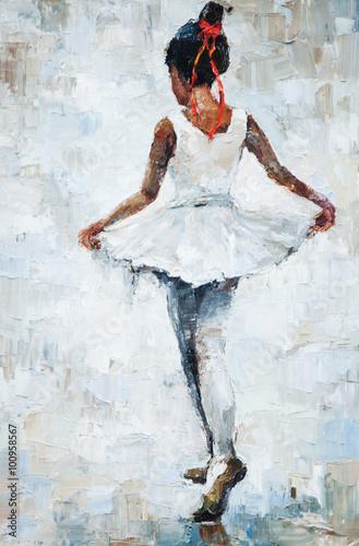 obraz-olejny-dziewczynka-baleriny-rysowane-ladny-taniec-baleriny
