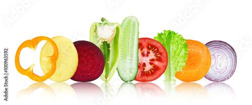 Poster Légumes frais Mixed vegetables
