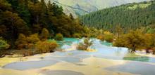 Huanglong National Park Near Jiuzhaijou Sichuan, China