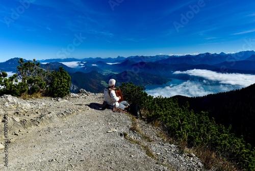 Fotografija  Accordionspieler auf dem Berg