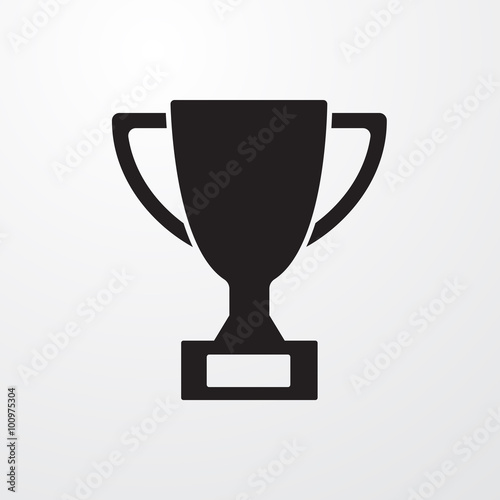 Trophy sign icon for web and mobile. Canvas Print