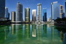 Skyscrapers Of Jumeirah Lake Towers In Dubai