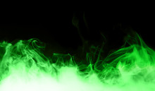 Green Steam On The Black Background