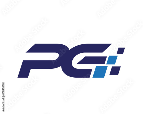 Pg Digital Letter Logo Buy This Stock Vector And Explore Similar