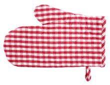 Oven Glove Red White Plaid