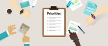Priorities Priority List Desk Business Personal