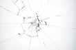canvas print picture - Broken glass on white background