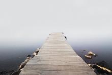 Pier In The Misty Dawn
