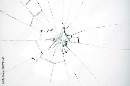 Obraz Broken glass on white background - fototapety do salonu
