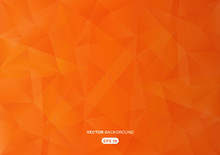 Orange Abstract  Geometric Bac...