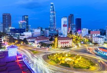 Night View Of The Ho Chi Minh ...