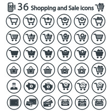 Shopping And Sale Icon Set