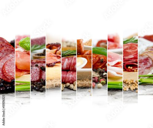 Poster Sushi bar Ham and Salami Mix