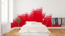 Renovierung Mit Roter Farbe An Wand