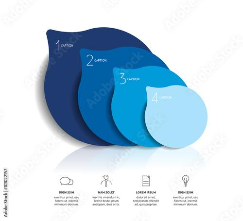 Fotografie, Obraz  Circle infographics options banner, template, scheme, chart