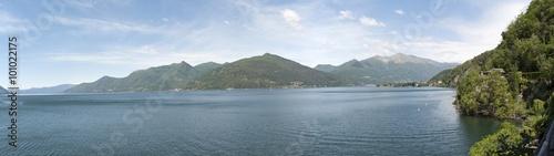 Obraz na plátně  View of Lago Maggiore, Lombardia. Italy.