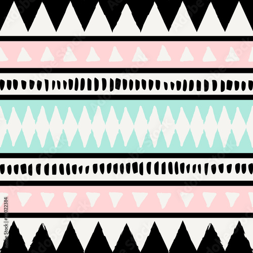 Naklejka premium Ethnic Seamless Pattern